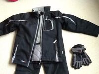 Boys Ski Jacket and Ski Trousers + Gloves - to fit 11 - 12 year old