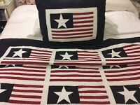 Double Bed Stars & Stripes Throw & Cushion