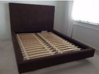 King size upholstered bed £75