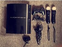 PS3 40GB, Accesories, PlayStation Move and 32 games