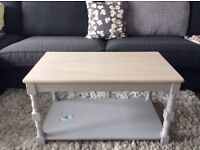Chic not shabby coffee table grey and stone colour