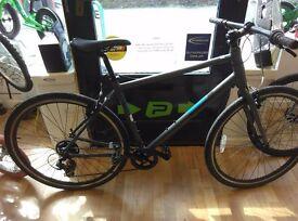 "Pinnacle Grey hybrid alloy frame XL 21"" nice bike fully working order bicycle mens"