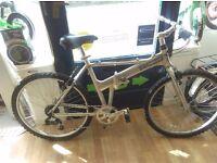 "Dahon Alloy Expresso 18"" folding mountain bike, many new parts working fine"