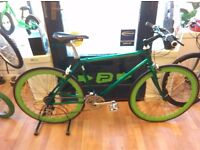 Green Concept Alloy frame 700 wheels, thumb shifter 21 gears bike bicycle