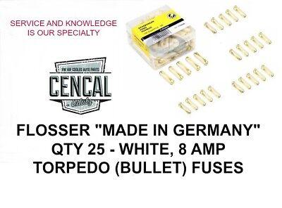Vw Torpedo 8 Amp Fuse Kit Flosser  Made In Germany  25 Pack N171211 114808