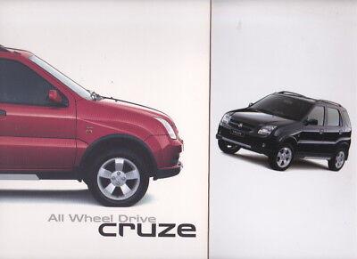 Two 2003  2004 HOLDEN CRUZE All Wheel Drive 16p Brochures SUZUKI IGNIS