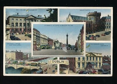 Ireland DUBLIN novelty pocket M/view c1940/50s? PPC