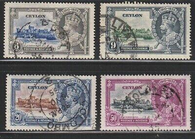 Ceylon   1935   Sc # 260-63   Silver Jubilee   Used    (4011-5)