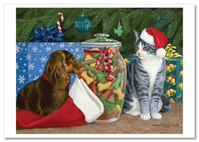 Christmas gifts Dog Cat Best friend Art collection Russian modern Postcards