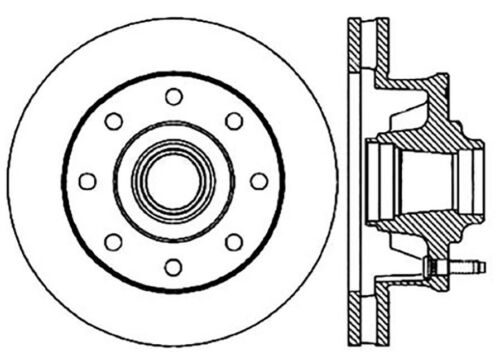 C Tek Standard Disc Brake Rotor Preferred Fits 2000 2000 Workhorse
