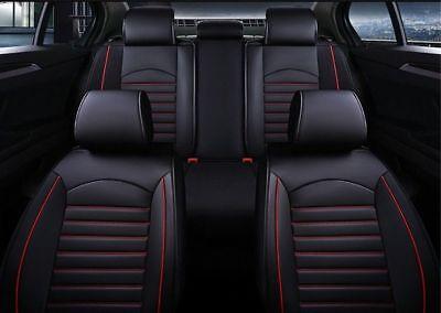 Premium Kunstleder Sitzbezüge Sitzbezug Schonbezüge für Fiat Sedici Schwarz Set