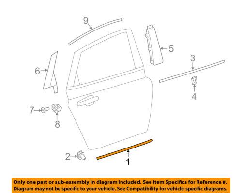 GM OEM REAR DOOR-Body Side Molding Left 22832438