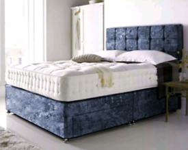 Brand New divan beds with Headboard & Mattress available in all sizes