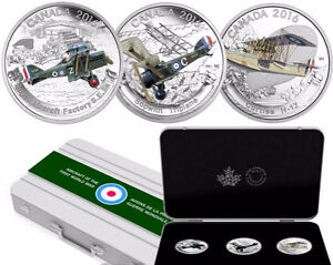 2016 $20 Silver Aircraft Of The First World War Series 3 Coins