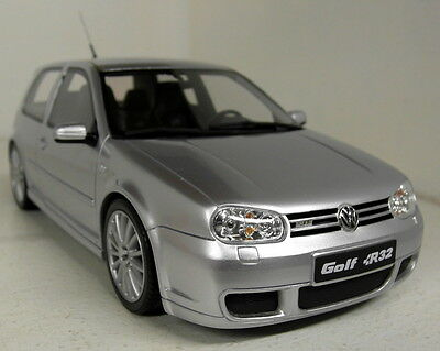 Otto 1/18 Scale OT646 VW Volkswagen Golf MkIV R32 Silver Resin cast Model Car