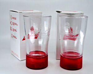 Budweiser Red Light Glass - BRAND NEW IN BOX