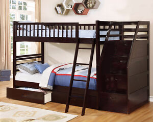 NEW! Twin/Twin Wood Bunk Bed w/ Storage Drawers, Free Delivery! Comox / Courtenay / Cumberland Comox Valley Area image 9
