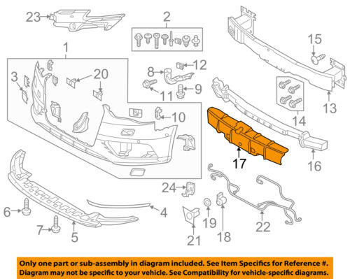 AUDI OEM 15-16 A3 Front Bumper Grille Grill-Cover 8V5807217A