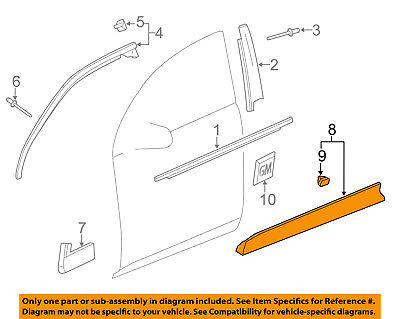 Chevrolet GM OEM 10-16 Equinox Front Door-Lower Molding Trim Right 25824825