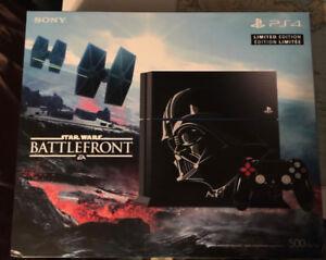 For Sale Limited Edition PS4 Darth Vader Battle Front Bundle
