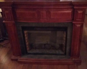 Cherry Wood Electric Fire Place ****REDUCED**** $200 OBO