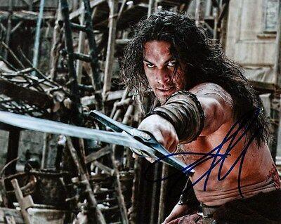Jason Momoa   Sword Wielding Conan The Barbarian   Signed