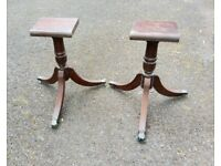 TWIN PEDESTAL FOR MAHOGANY DINING TABLE / PLANT STAND ?? 1 AVAILABLE