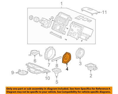 39120S3VA91 Acura OEM 04-06 MDX 05-12 RL Stereo Speaker Audio 17cm Single Bose