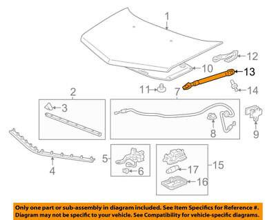 74149STXA02 Acura OEM 07-13 MDX Hood Support Strut Shock Prop Arm
