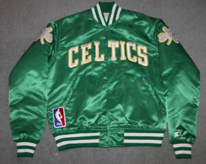 VINTAGE STARTER BOSTON CELTICS VARSITY JACKET ADULT MEDIUM