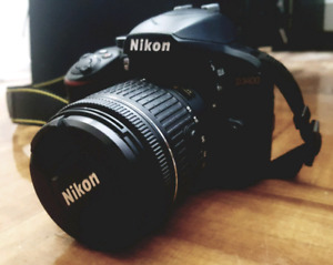 Mint Condition Nikon D3400 with 50mm f1.8 & 18-55mm(VR) lens