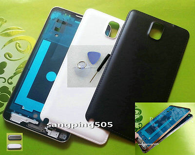 E- Samsung Galaxy Note 3 N9005 Housing Faceplate Front Bezel Frame+Battery Cover