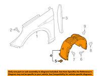 NISSAN OEM 13-16 NV200-Front Fender Liner Splash Shield Left 638433LM0A