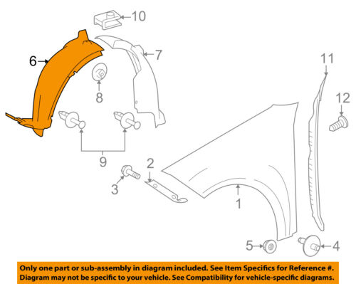 For Mercedes Genuine Fender Splash Shield Right 2046905430
