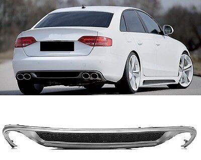 Für Audi A4 B8 8K RS4 S4 Grill Diffusor Spoiler Stoßstange Heckspoiler 4 Rohr #_ online kaufen