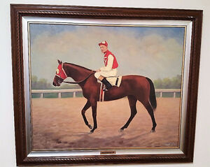 Painting of Seabiscuit, the race horse