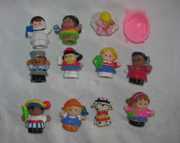 Fisher Price Little People Lot 11- Baby, Astronaut, Fire Dog