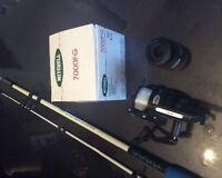 Mitchell 7000fg spinning wheal and fishing rod