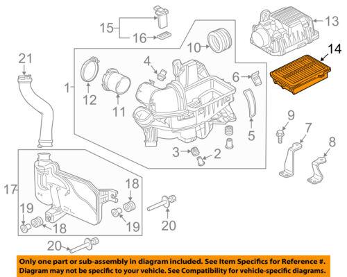 HONDA OEM 15-16 Fit Engine-Air Filter Element 172205R0008   eBayeBay