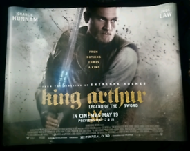 King Arthur Legend of the Sword Original Quad Poster UK Cinema for sale  Wallsend, Tyne and Wear
