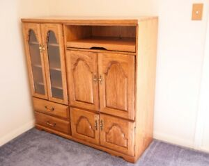 Handsome Solid Oak Entertainment Unit with tons of storage space