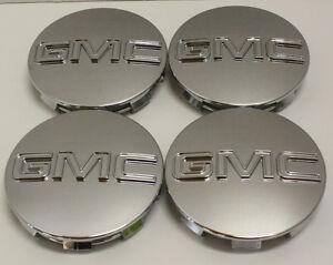 "GMC Sierra Yukon Denali Center Caps GM 9595759 Fits 18"",20"",22"""
