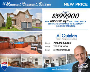 Priced to Sell!! Beautiful large home in South Barrie
