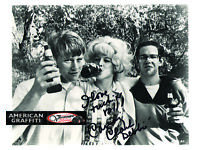 Candy Clark Signed w// Steve and Toad Debbie American Graffiti Photo