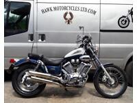 LOVELY 1997 YAMAHA XV535 VIRAGO WITH SCREEN, USB AND 12V. V.G.C.