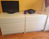 2 commodes style ikea MALM