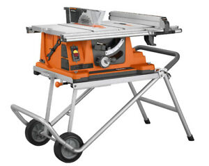 Ridgid Heavy Duty Portable Table Saw with Stand