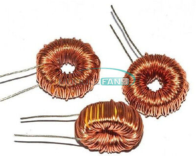 10pcs Toroid Core Inductors Wire Wind Wound For Diy Mah--100uh 6a Coil New