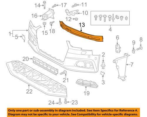 AUDI OEM 17-18 A4 Front Bumper Grille-Impact Reinforcement Bar Rebar 8