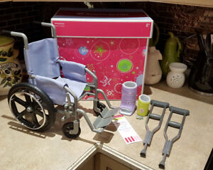 American Girl Doll Wheelchair & Crutch Set New Price
